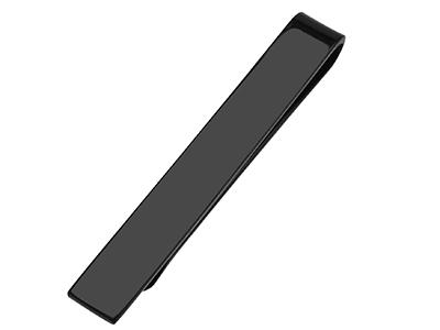 TN-2961E 3 Size Black Blank Tie Bar