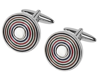 662-5R Multi Color Rainbow Cufflinks