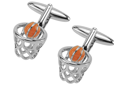 642-5R Basketball Hoop Cufflinks