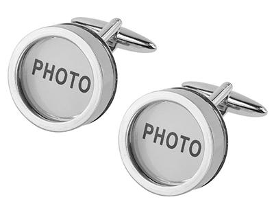 243-30R Personalized Photo Cufflinks