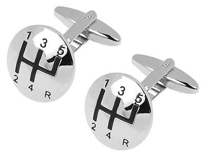 161-19R Gear Stick Cufflinks