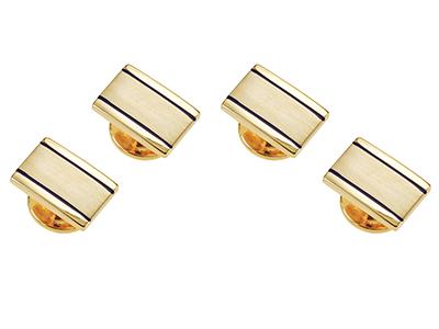 ST151-16G2 Mens Gold Shirt Studs