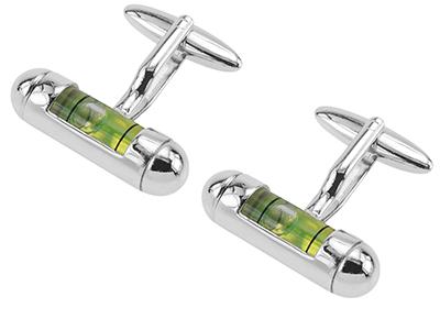 207-11R Green Level Cufflinks