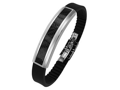 CX-27 Stainless Steel Carbon Fiber Bracelets