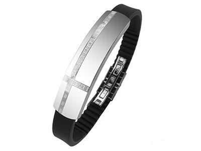 R7-COM-07 Stainless Steel Cross Pattern Bracelets