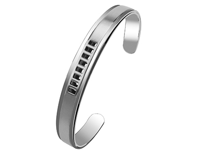 SSB0001R2 Stainless Steel Cut Out Windows Bangles