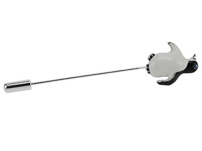 TP54-11R Men Suit Penguin Lapel Pin