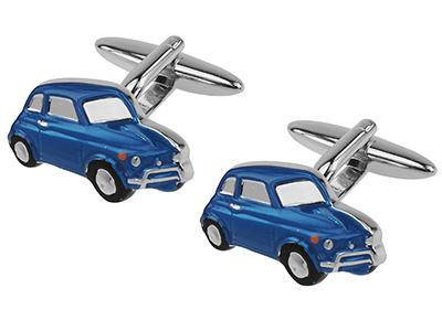 642-2R Retro Blue Mini Car Cufflinks