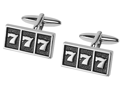 TN-1217R Lucky Sevens Slot Machine Cufflinks