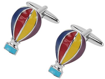 648-24R Hot Air Balloon Cufflinks
