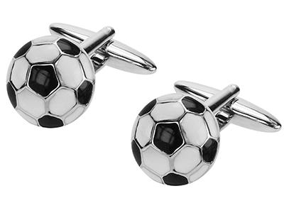 159-13R Soccer Football Cufflinks