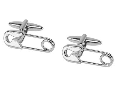 207-1R Safety Pin Cufflinks