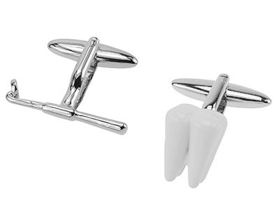 641-17R Teeth Dentist Cufflink