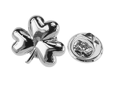 243-25R/TP Leaf-clover Lapel Pin