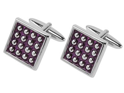 Purple Enamel Cufflinks