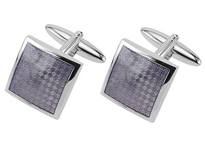 Purple Textured Frame Cufflinks