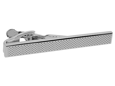 Dotted Silver Tie Clip