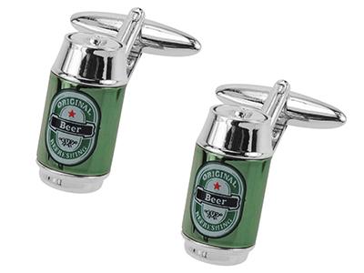 642-8R Beer Can Cufflinks
