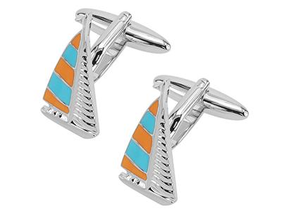 TN-1138R2 Boat Cufflinks