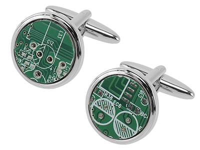 650-13R Computer Circuit Board Cufflinks