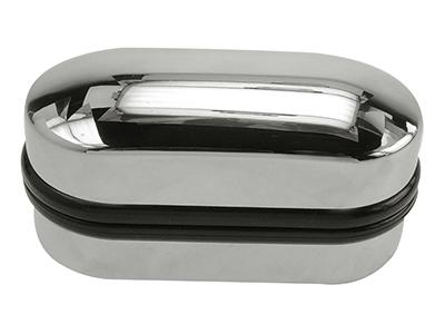 Shiny Chrome Cufflinks Box