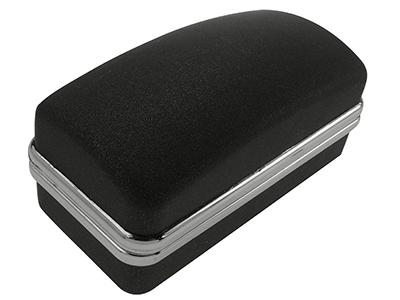 Black Plastic Cufflinks Box