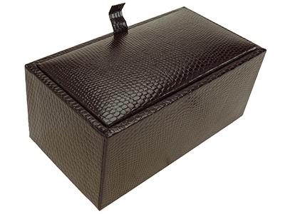 Burgundy Textured Cufflink Box
