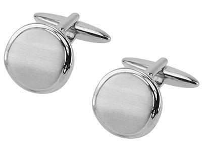 152-18R2 Executive 925 Sterling Silver Cufflinks