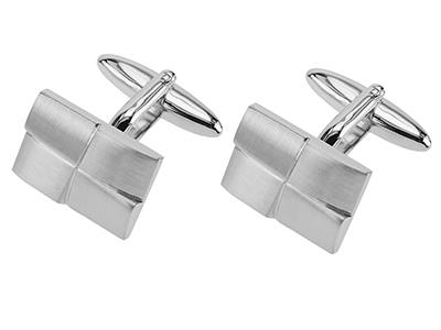 258-8R1 Mens Sterling Silver Cufflinks