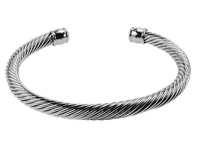 B00006R Silver Mens Cable Wire Bracelet