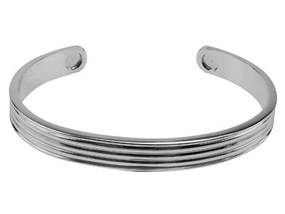 B00008R Silver Simple Cuff Bangle