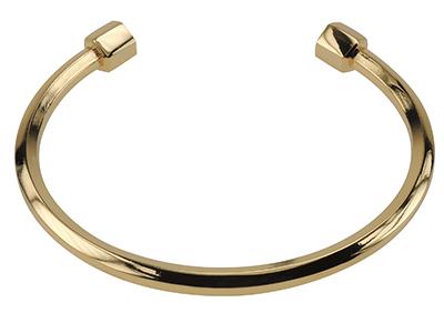 B00001G Mens Gold Open Bracelet Bangle