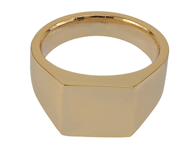 R00008G Simple Gold Mens Ring