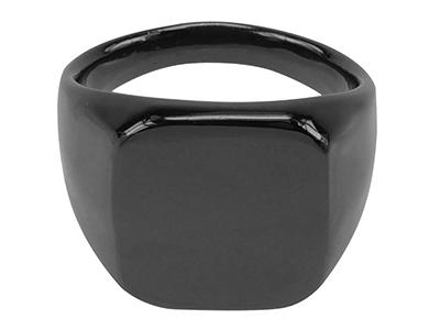R00003GM Square Design Gunmetal Plated Ring