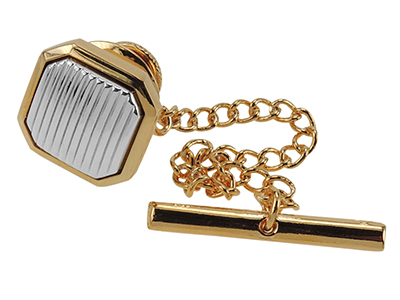 TP5-9GR Gold And Silver Mens Tie Tack