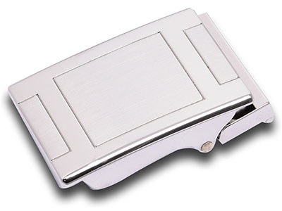 Custom Silver Automatic Belt Buckle
