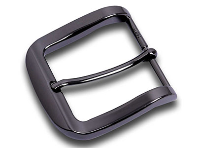 Black Metal Pin Belt Buckle For Men