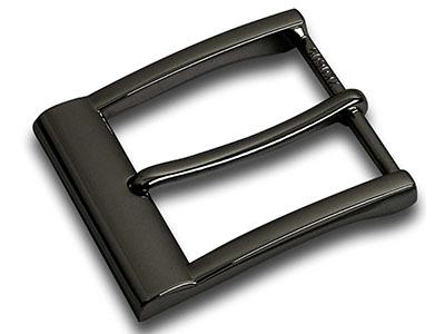 Formal Black Mens Pin Belt Buckle