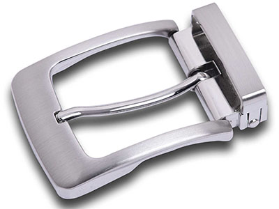 Metal Silver Pin Belt Buckle With Clip
