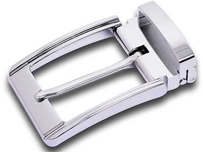Silver Clip Clasp Pin Belt Buckle