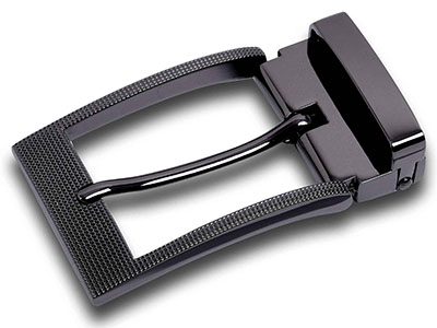 Textured Metal Pin Buckle For Men