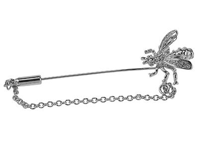 649-3R/LP Unique Silver Bee Small Animal Lapel Pin