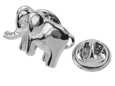 648-9R/TP Funny Silver Animal Elephant Metal Lapel Pins