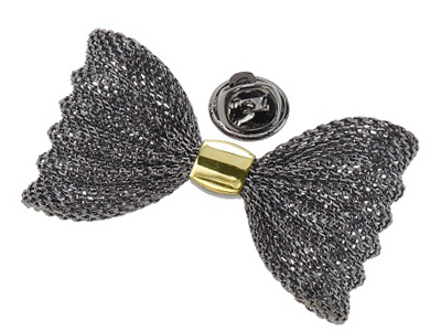 TP2-4GMG Unique Gunmetal and Gold Metal Bow Lapel Pins