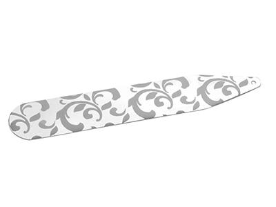 TN-851R2 Silver Laser Engraved Collar Pin