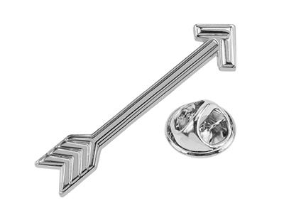 TP56-2R Skinny Arrow Lapel Pin for Men