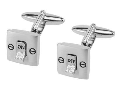 209-24R2 Light Switch ON and OFF Cufflinks