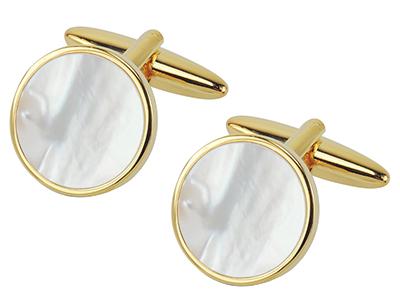 1507-9G Amazon Hot Sale Gold Cufflinks