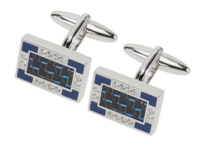619-7R Sedex Passed Carbon Fiber Cufflinks