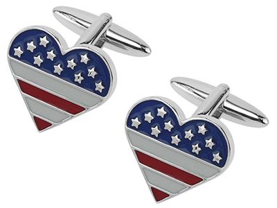 656-3R Custom Love Heart Cufflink
